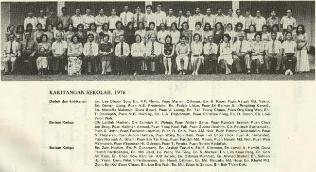 Kakitangan Sekolah Ampang 1976